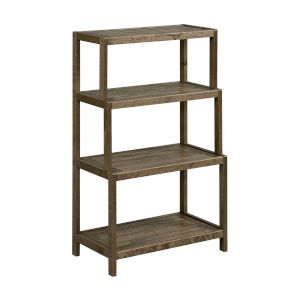 Dunnsville Antique Chestnut 4-Tier Step Back Shelf Bookcase