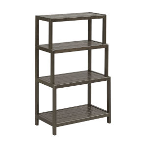 Dunnsville Espresso 4-Tier Step Back Shelf Bookcase