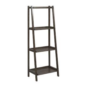 Dunnsville Espresso 4-Tier Ladder Leaning Shelf Bookcase