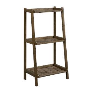 Dunnsville Antique Chestnut 3-Tier Ladder Shelf