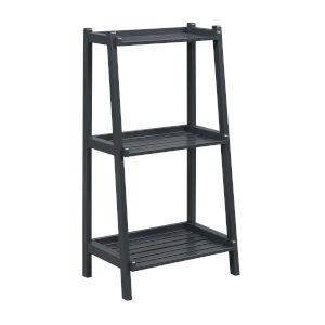 Dunnsville Graphite 3-Tier Ladder Shelf