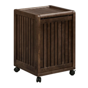 Abingdon Espresso Laundry Hamper with Lid