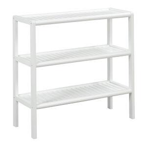 Abingdon White 3-Shelf Bookcase