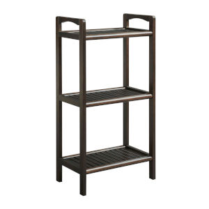 Abingdon Espresso 3-Shelf Bookcase