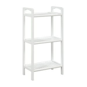 Abingdon White 3-Shelf Bookcase