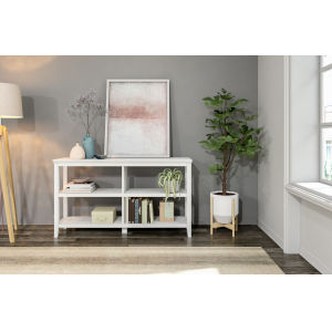 White 2-Tier Bookcase