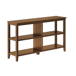 Walnut 2-Tier Bookcase