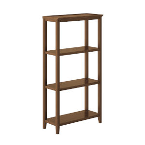Walnut 3-Tier Bookcase
