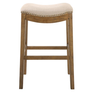 Saddle Cream 31-Inch Bar Stool