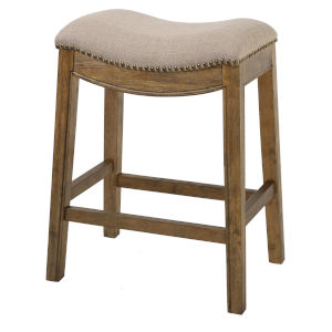 Saddle Cream 26-Inch Counter Stool