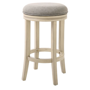 Victoria Ivory 26-Inch Counter Height Swivel Stool