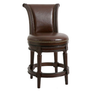 Chapman Distressed Walnut 25-Inch Counter Height Swivel Stool