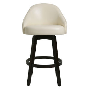 Mansfield Ivory 30-Inch Bar Height Swivel Stool