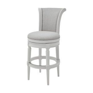 Chapman Alabaster White Bar Height Swivel Barstool