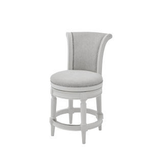 Chapman Alabaster White Counter Height Swivel Barstool