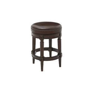 Chapman Distressed Walnut Backless Counter Height Stool