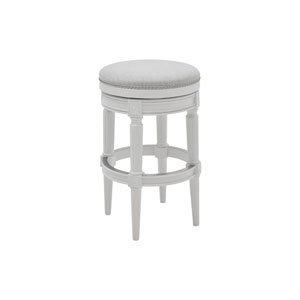 Chapman Alabaster White Backless Bar Height Stool