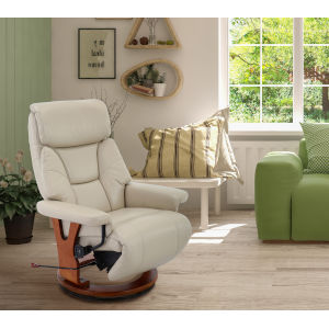Bern Cobblestone Breathable Air Leather Recliner