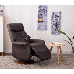 Oxford Espresso Breathable Air Leather Manual Recliner