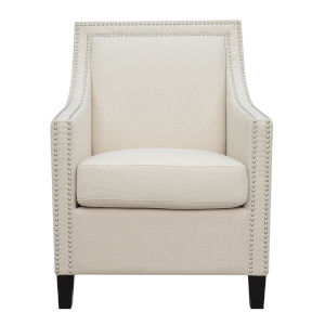 Carmen Beige Upholstered Accent Chair