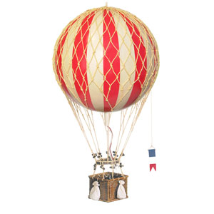 True Red Royal Aero Hot Air Balloon Model