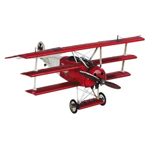 Desktop Fokker Triplane Model Airplane