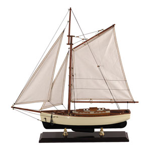 1930s Classic Small Yacht Model