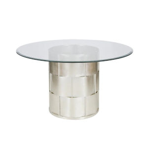 Silver Leaf Basketweave Dining Table Base