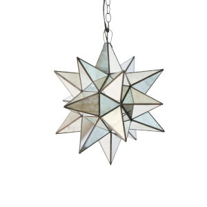 Antique Brass 15-Inch Star Chandelier