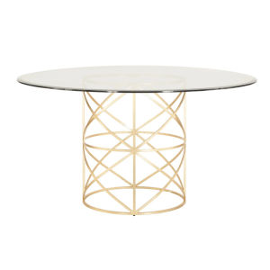 Gold Leaf 24-Inch Dining Table Base