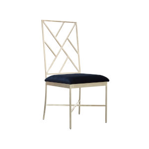 Silver Leaf and Navy Chair