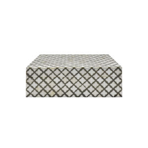 Grey and Faux Bone Decorative Box