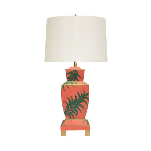 Salmon and Green Table Lamp