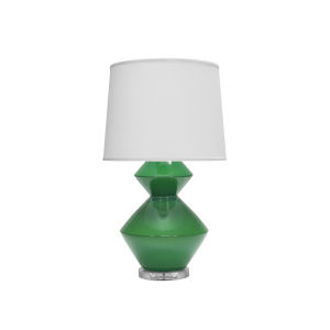Green and Acrylic 29-Inch Table Lamp