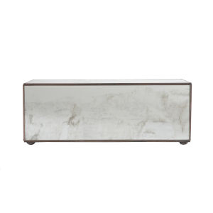 Antique Mirror 15-Inch Rectangular Decorative Box