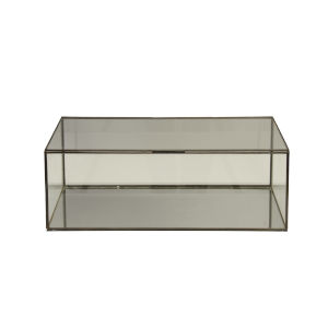 Clear Glass 15-Inch Rectangular Decorative Box
