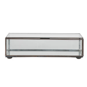 Clear Glass 11-Inch Rectangular Decorative Box