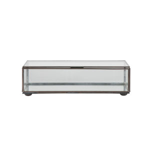Clear Glass 9-Inch Rectangular Decorative Box
