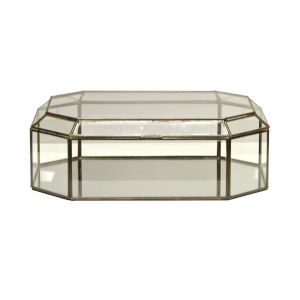 Clear Glass Octagonal Decorative Box