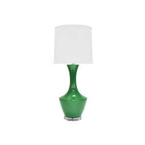 Green and Acrylic 14-Inch Table Lamp