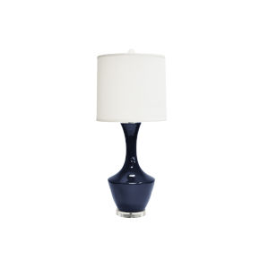 Navy and Acrylic 30-Inch Table Lamp