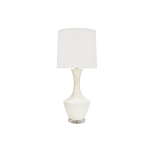 White and Acrylic 30-Inch Table Lamp