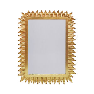 Gold Leaf Rectangular Wall Mirror