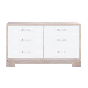 Cerused Oak and White Acrylic Chest