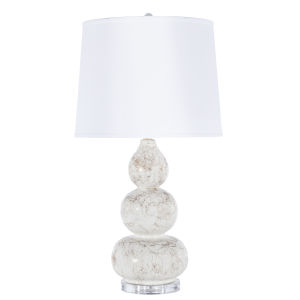 White with Gold Marbling Table Lamp