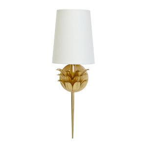 Gold Leaf 21-Inch Wall Sconce
