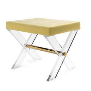 Polished Brass and Citron Stool