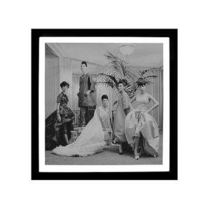 Black and White Dior Salon Wall Art