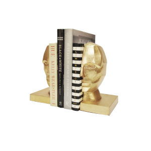 Gold Leaf 8-Inch Bookends
