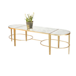 Gold Leaf Three-Piece Coffee Table